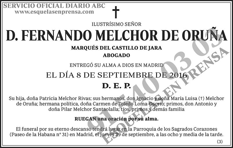 Fernando Melchor de Oruña